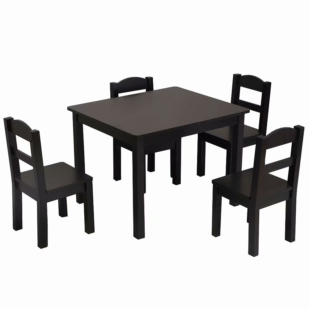 Kids Table And Chairs Clearance Clearancekids Wood Table 4 Chairs Set Espresso
