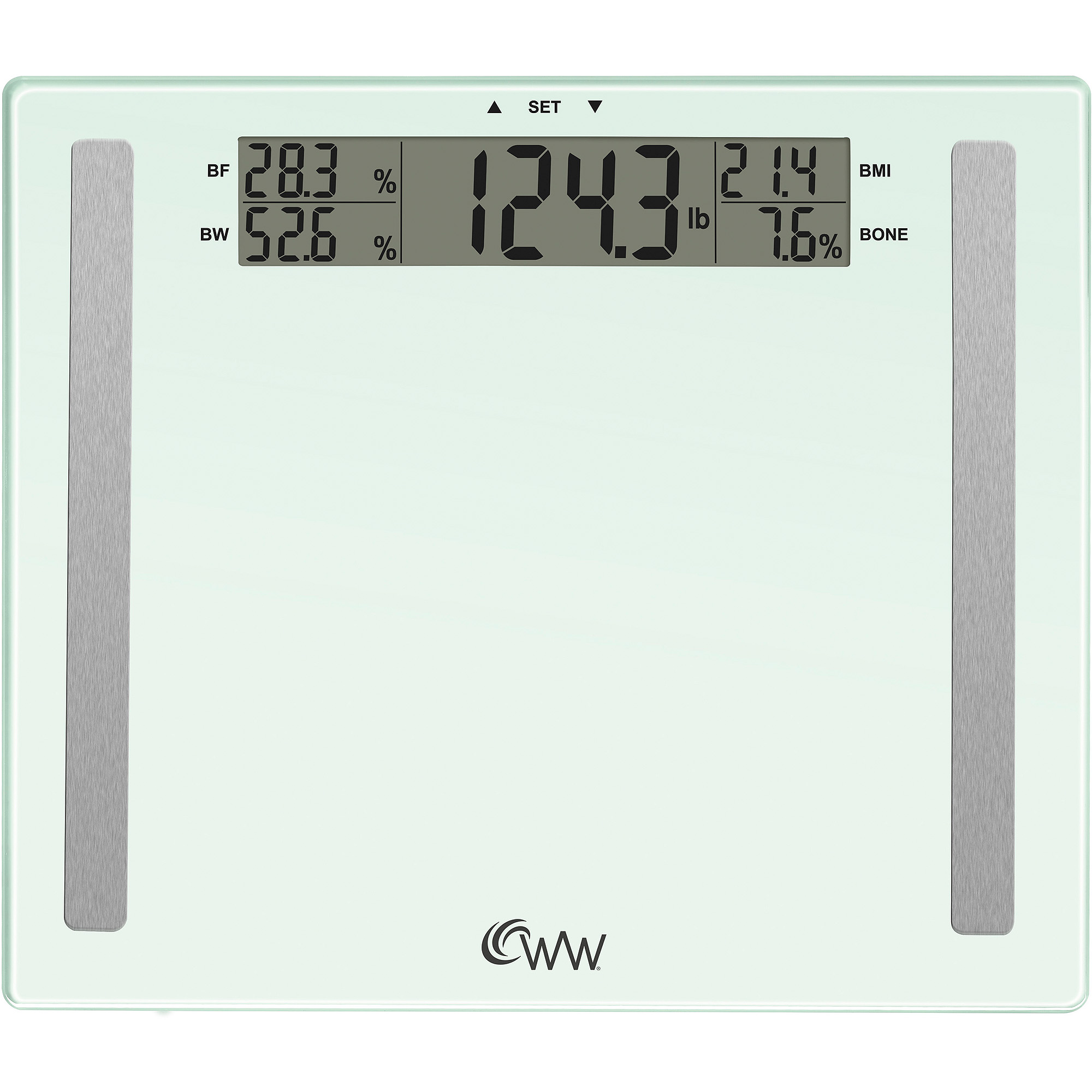 Weight watchers by conair user memory glass body analysis scale also rh walmart