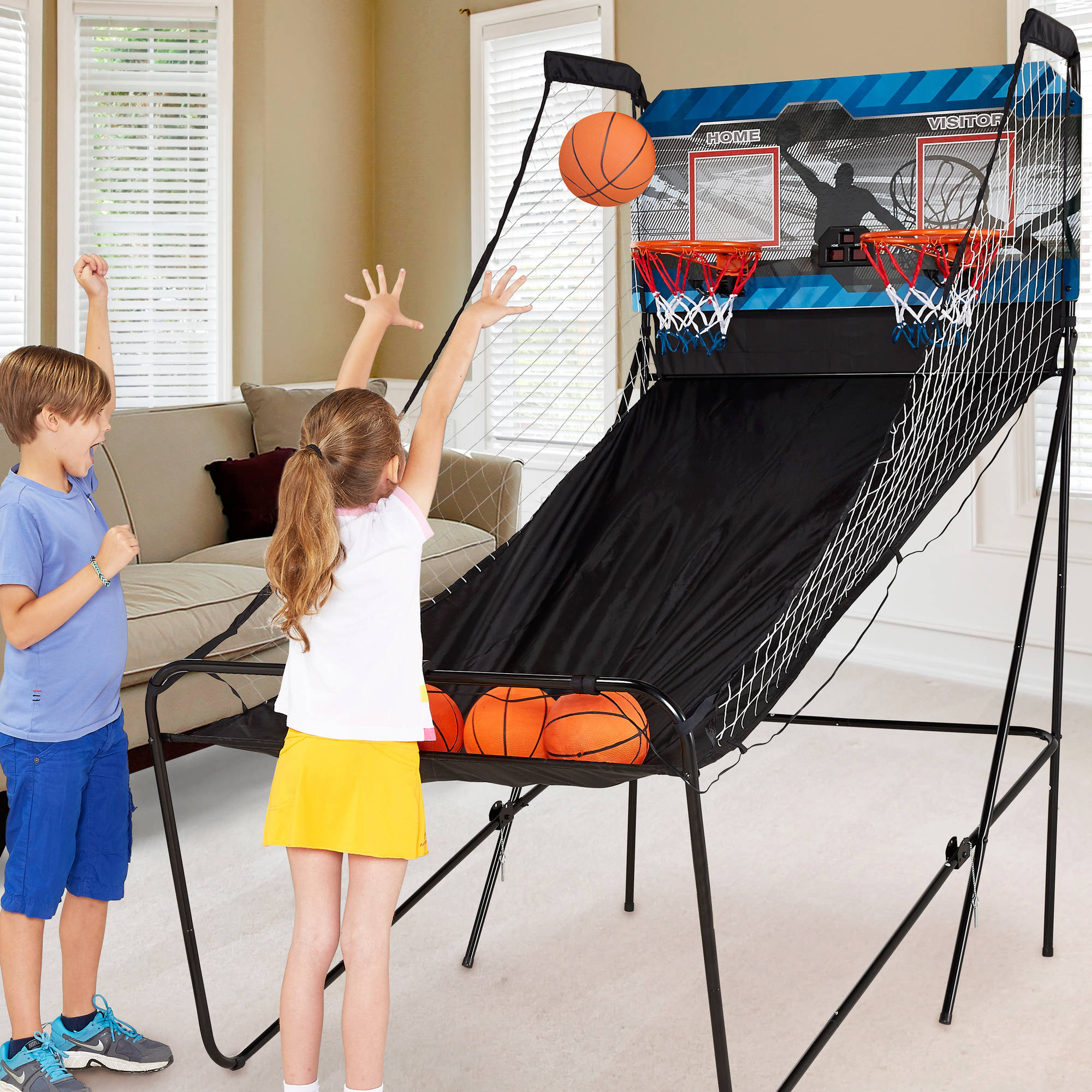 Md Sports 2 Player Arcade Basketball Game With 8 In 1 Game