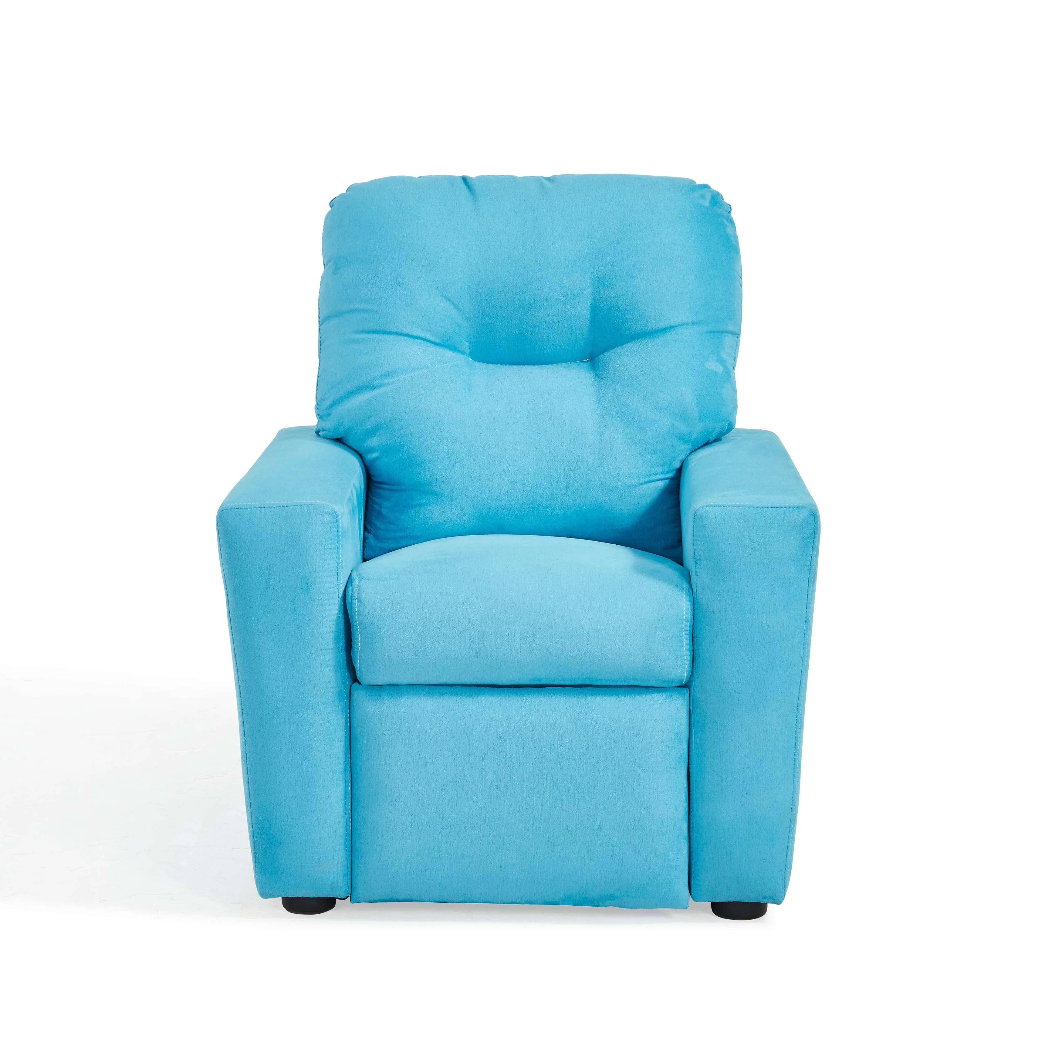mainstays upholstered microfiber kids recliner multiple colors