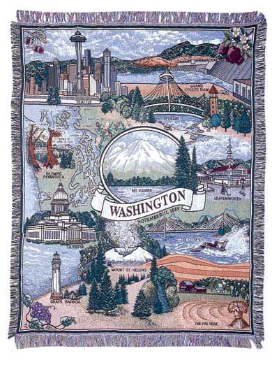 Tapestry Throw State of Washington Blanket Walmartcom
