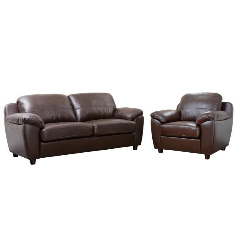 2 piece brown leather sofa and loveseat set bella accent chair in