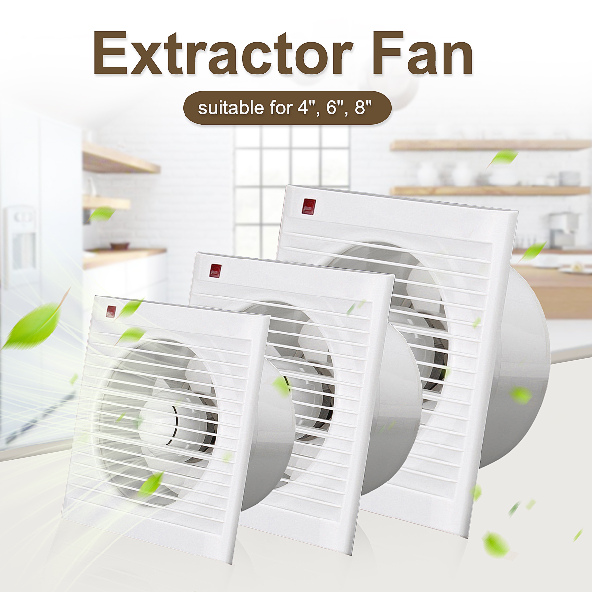 220v 4 inch high speed exhaust fan ventilation extractor blower kitchen bathroom air vent fan