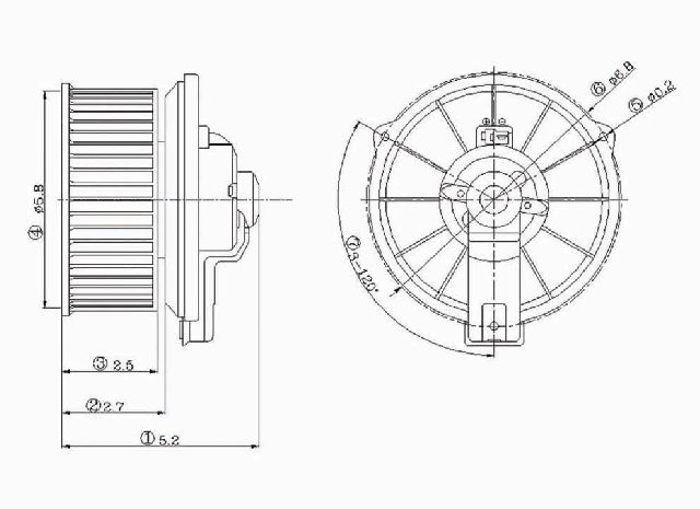 OE Replacement for 1988-1992 Toyota Corolla HVAC Blower