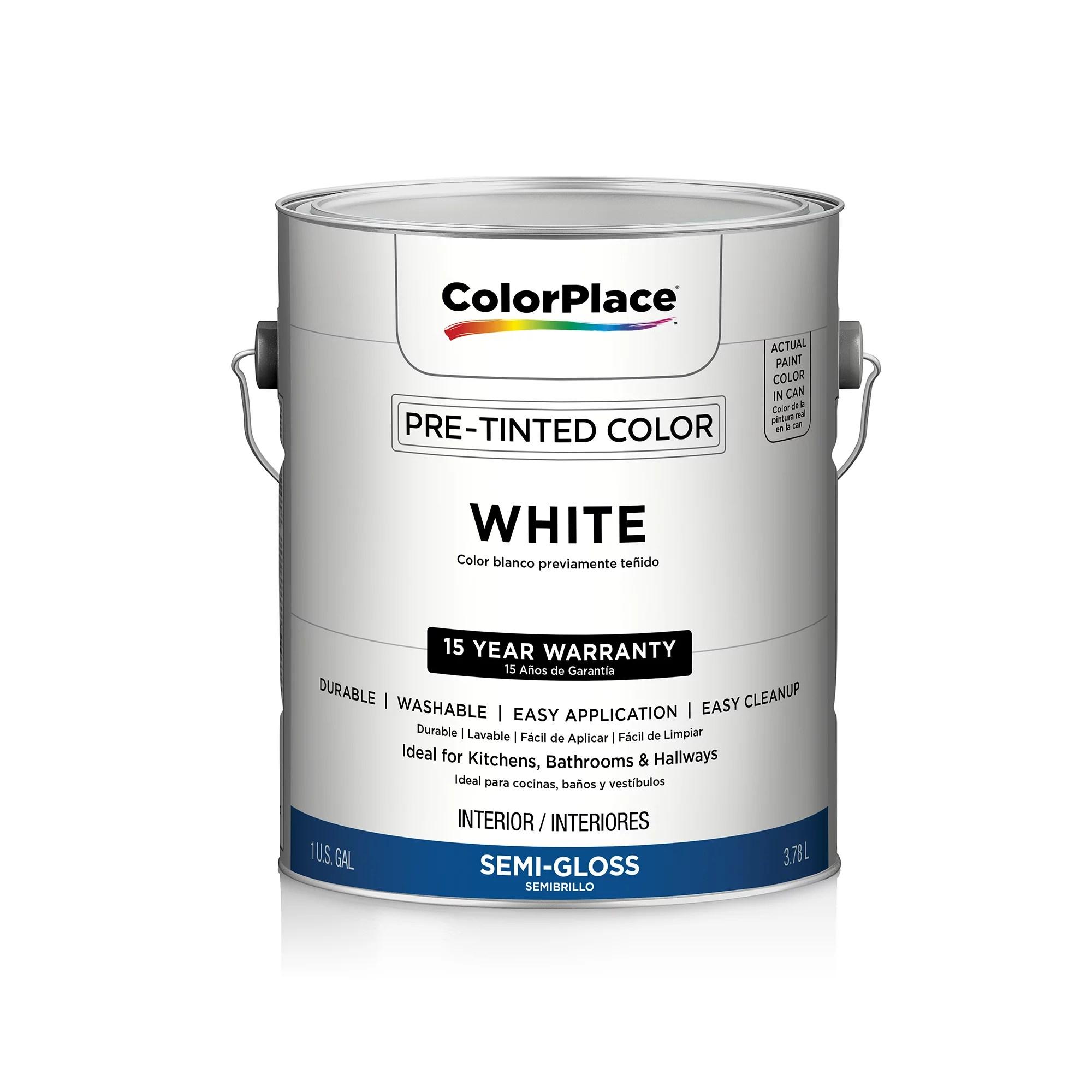 Color place interior semi gloss paint white also walmart rh