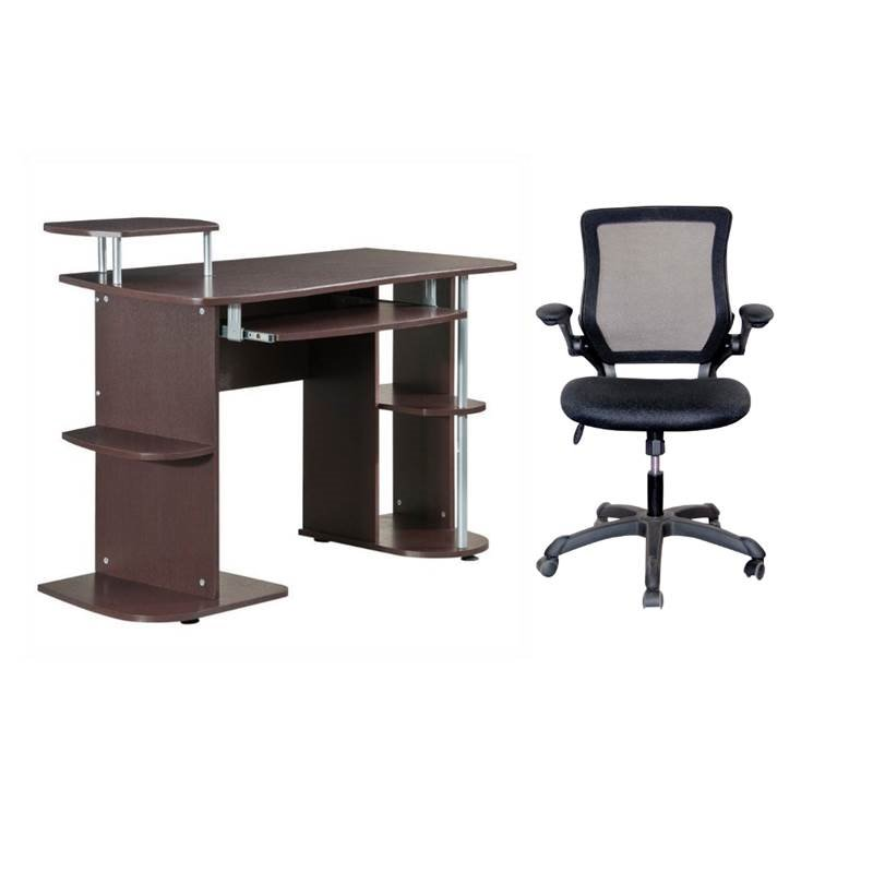 computer desk chair walmart tempur pedic tp4000 task 2 piece office set with and com