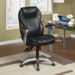 Serta Bonded Leather Executive Chair Cosco High Cover Ergo Office In Black Walmart Com