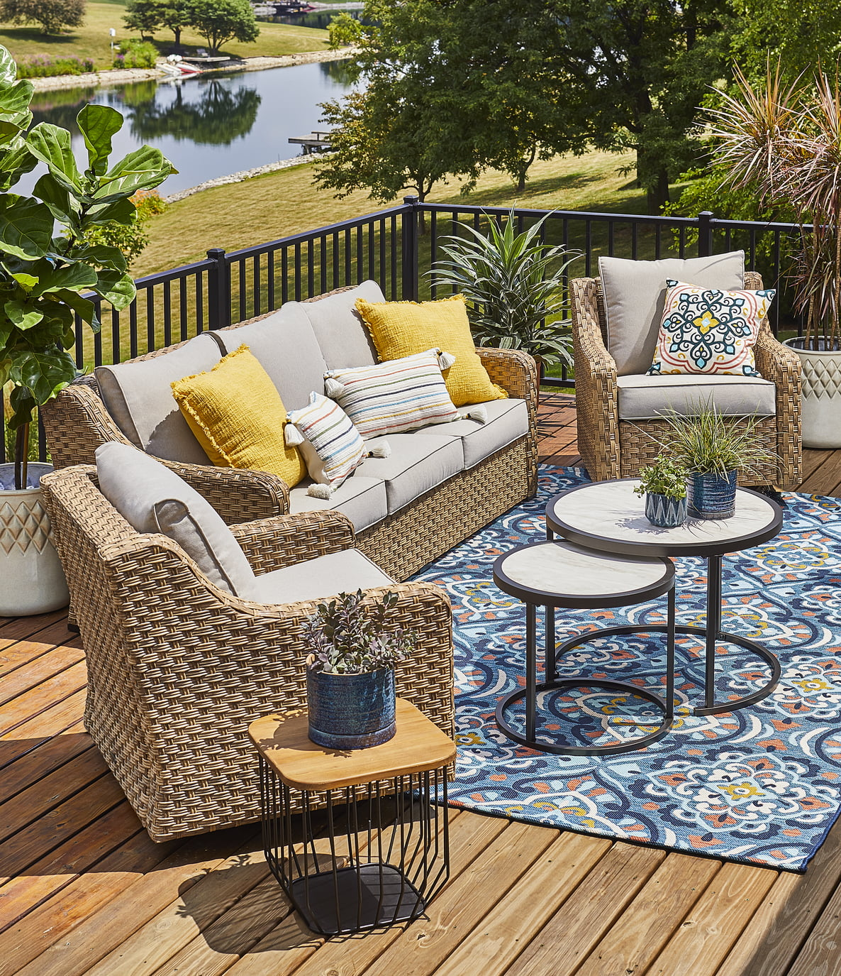 better homes gardens river oaks 5 piece conversation set with covers