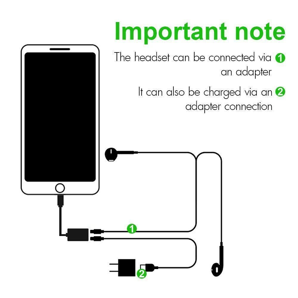 adapter splitter 2 in 1 aux headphone jack audio charge cable adapter 3 5mm lightning adapter for iphone7 7plus 8 8plus x support ios 11 and before [ 1000 x 1000 Pixel ]