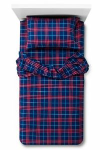 Circo Navy Blue & Red Plaid Sheet Set Queen Size Flannel ...