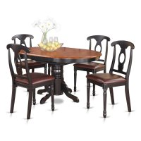 East West Furniture Avon 5 Piece Oval Pedestal Dining ...