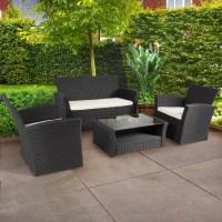 4pc Outdoor Patio Garden Furniture Wicker Rattan Sofa Set ...