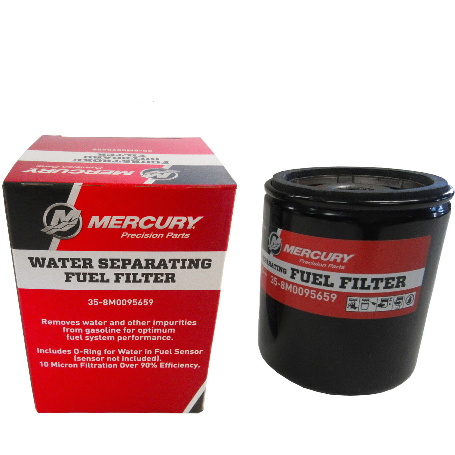 hight resolution of mercury marine mercruiser new oem water separating fuel filter 35 8m0095659 walmart com