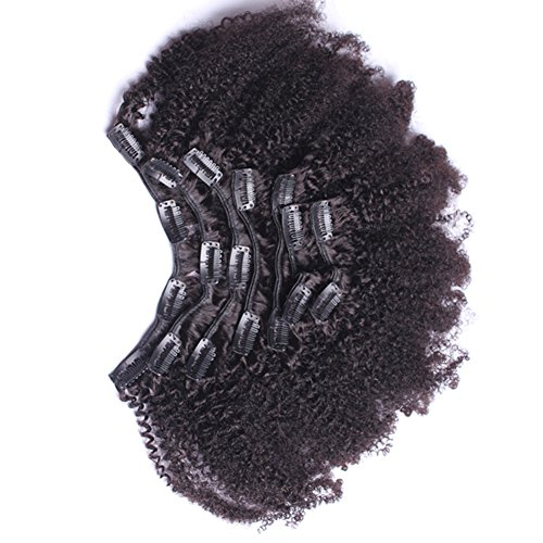 7a 4b 4c Kinky Curly Clip In Human Hair Extensions 7pc Natural
