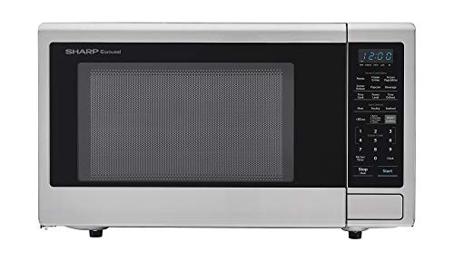 sharp carousel 2 2 cu ft 1200w countertop microwave oven in stainless steel ista 6 packaging