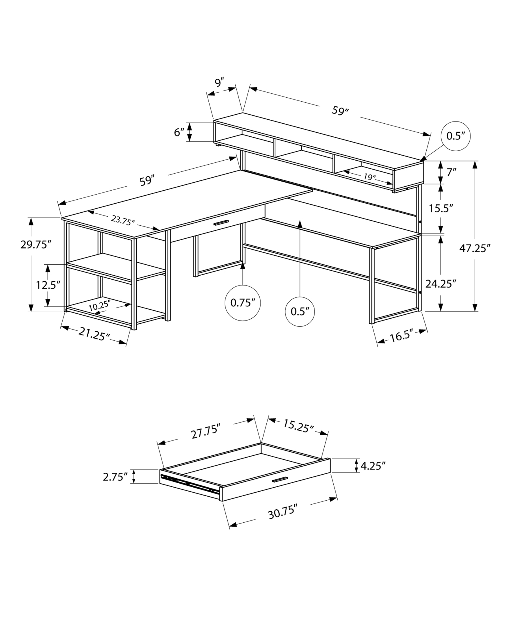 hight resolution of desk schematic