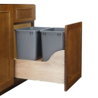 Rev-A-Shelf Double Pull out Trash Can - Walmart.com