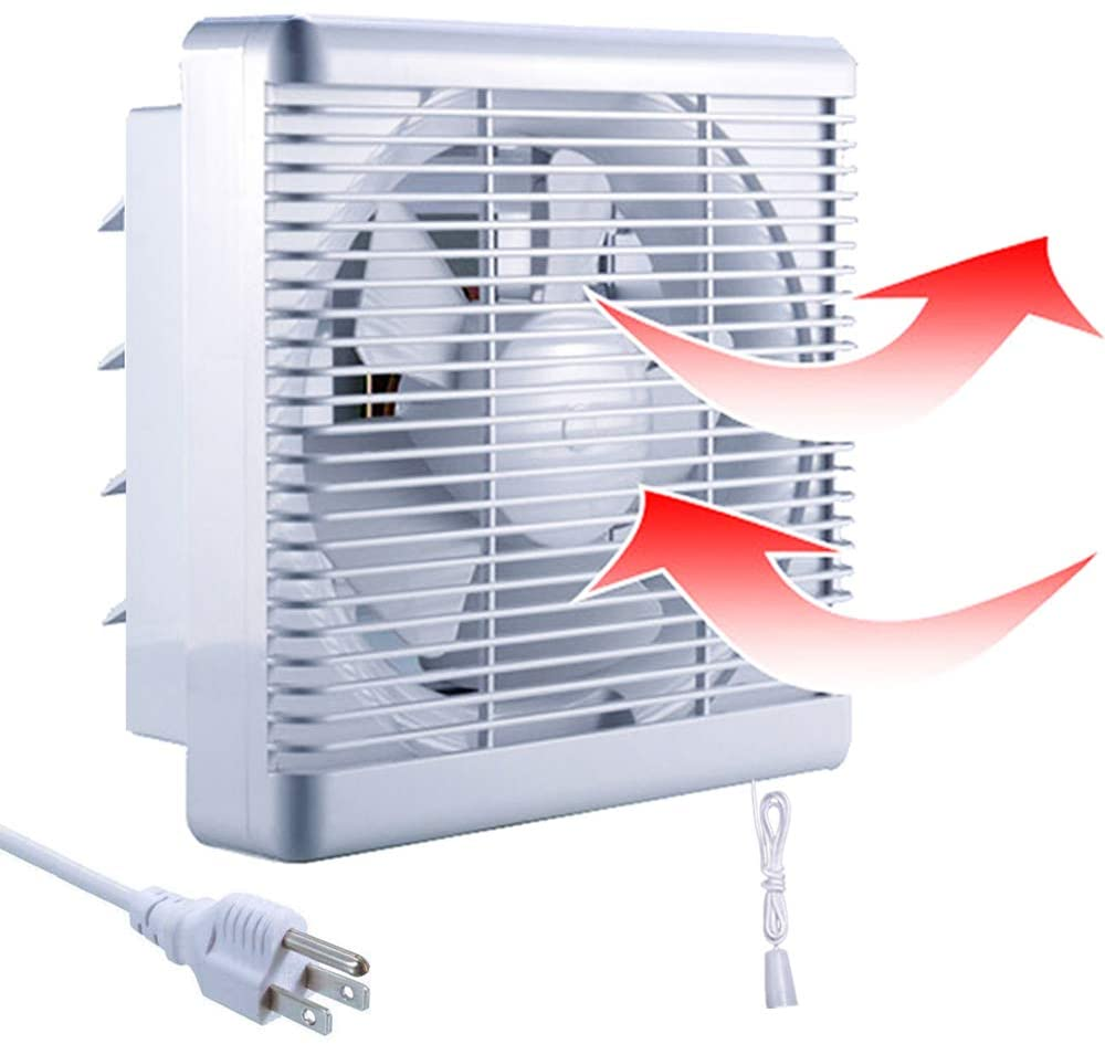 sailflo 10 inch exhaust shutter fan 2 way linkage blower 470 cfm strong reversible airflow wall mounted ventilation fan for vents attic kitchen