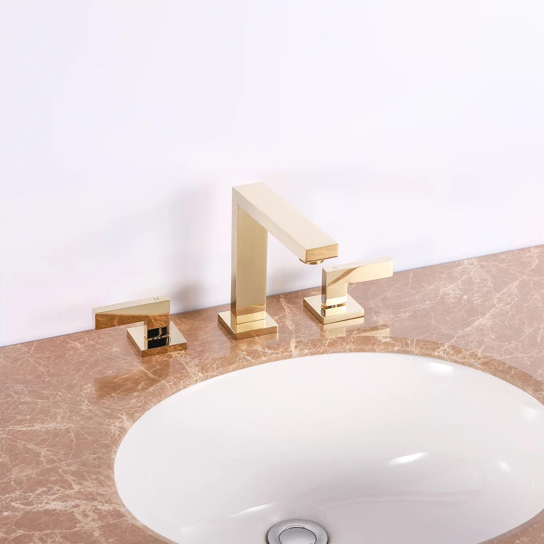 eviva sleek 2 handles 3 holes gold bathroom sink faucet walmart com