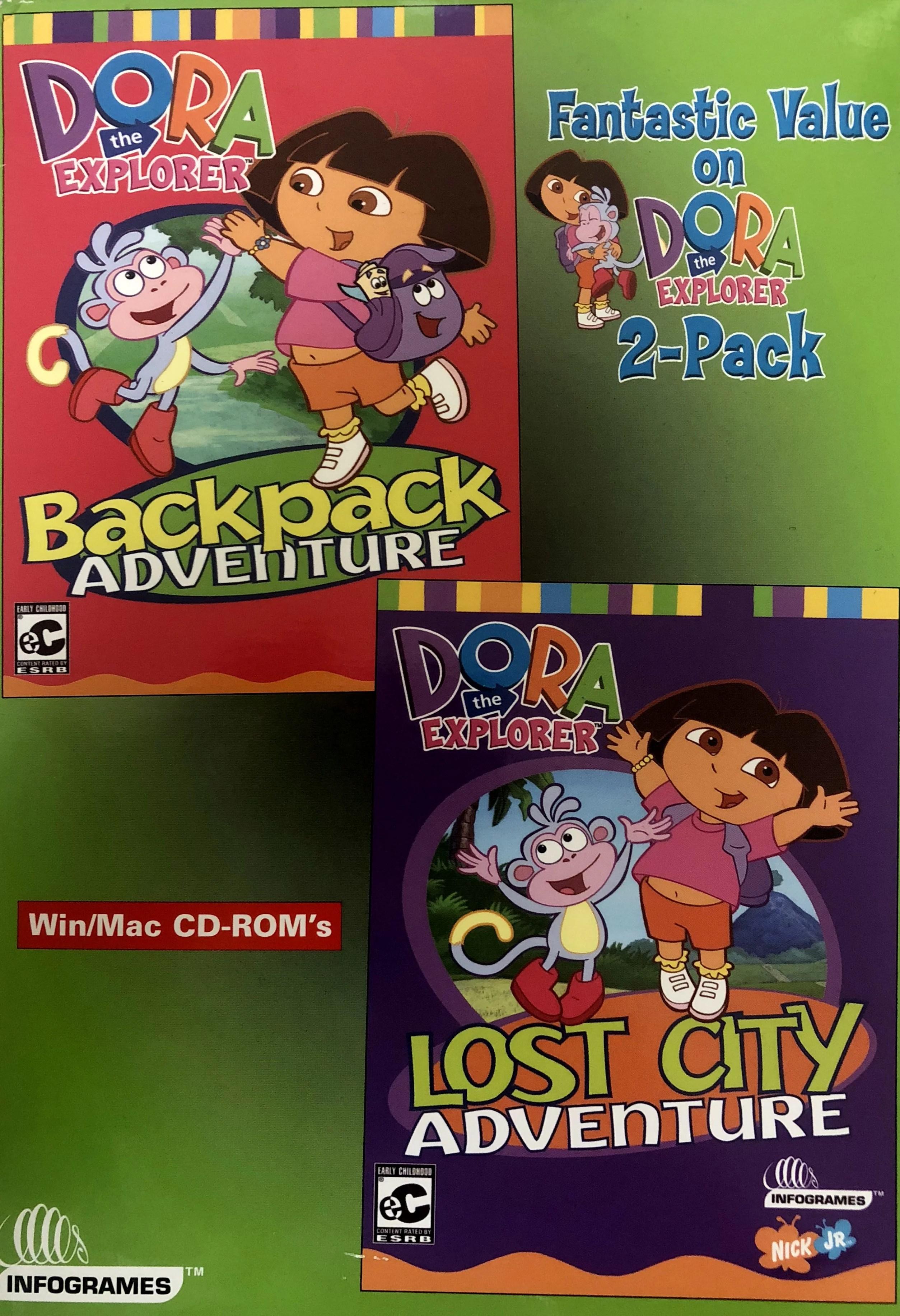 Dora The Explorer 2 Pc Game Set Includes Backpack