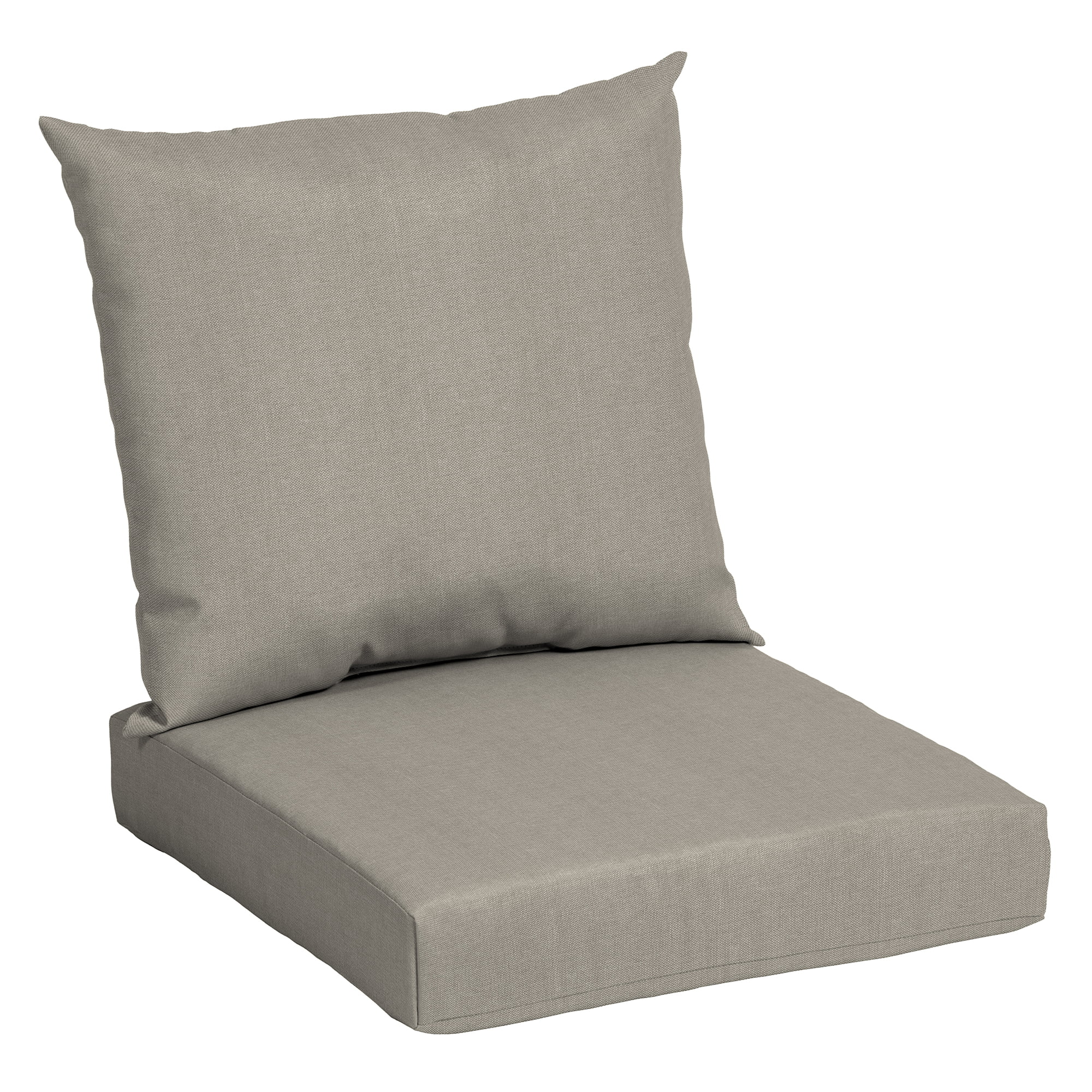 mainstays solid tan 45 x 22 75 in outdoor deep seat cushion set