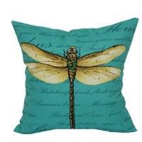 """Mainstays Outdoor 16"""" Dragonfly Toss Pillow - Walmart.com"""