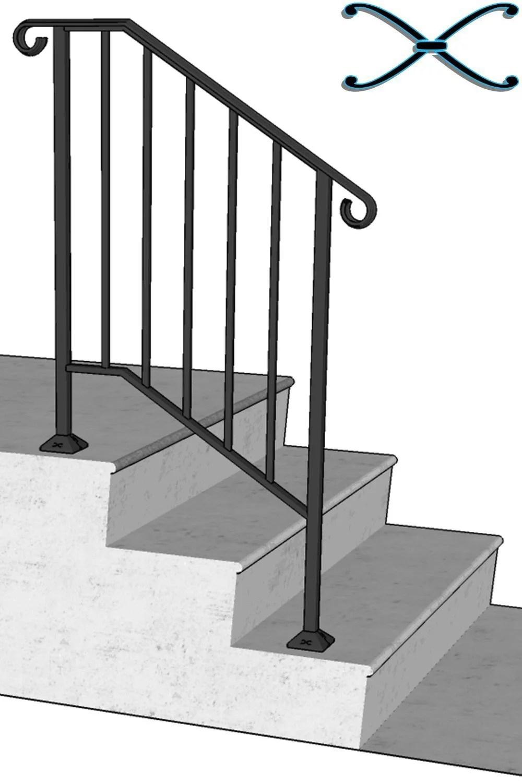 Iron X Handrail Picket 2 No Fasteners Walmart Com Walmart Com | Iron X Handrail Picket