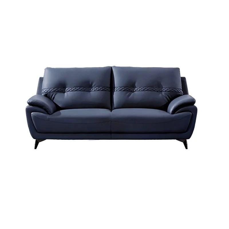 american eagle furniture microfiber leather sofa in blue
