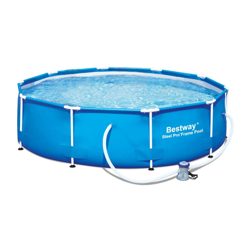 medium resolution of bestway 10 x 30 steel pro frame above ground family swimming pool set