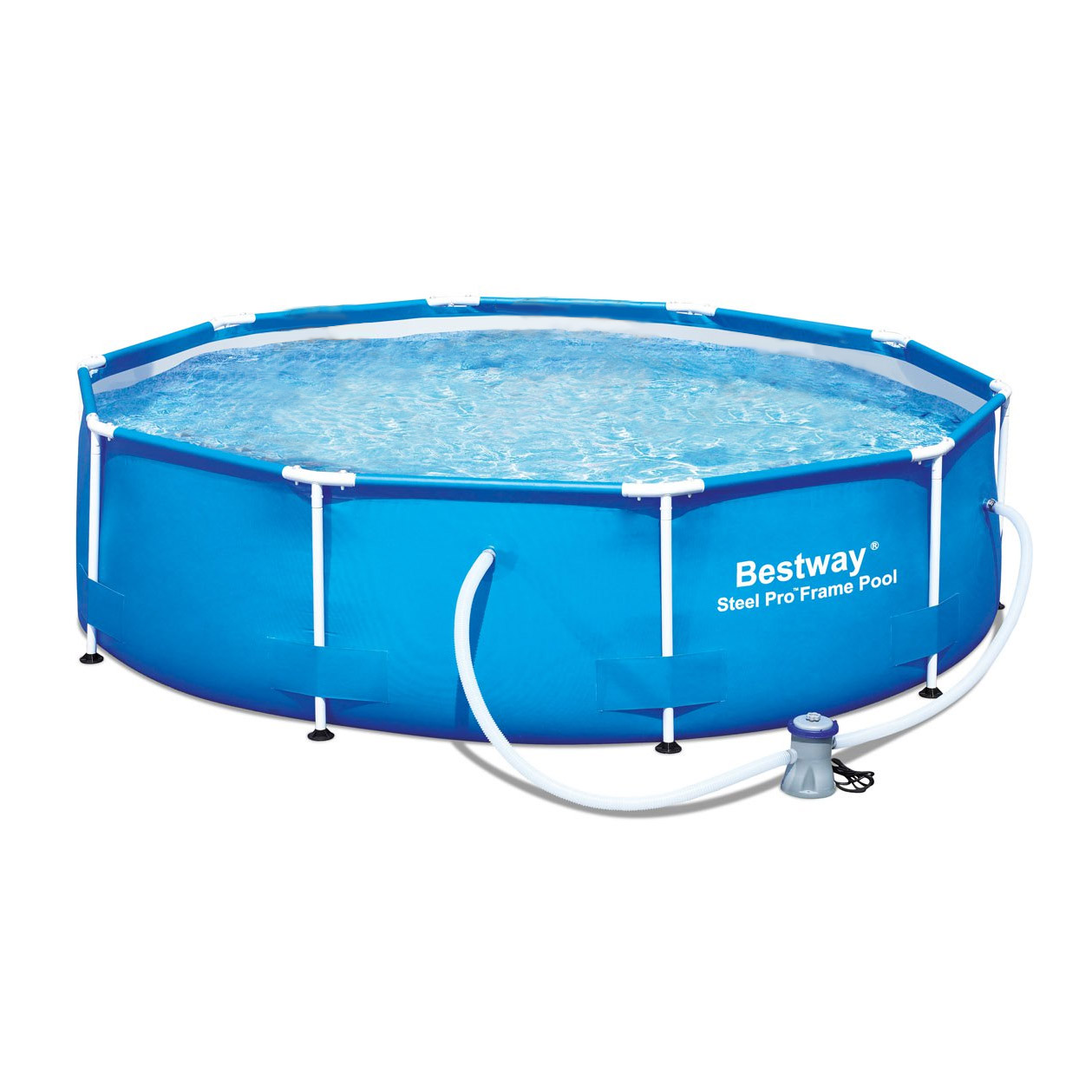 hight resolution of bestway 10 x 30 steel pro frame above ground family swimming pool set