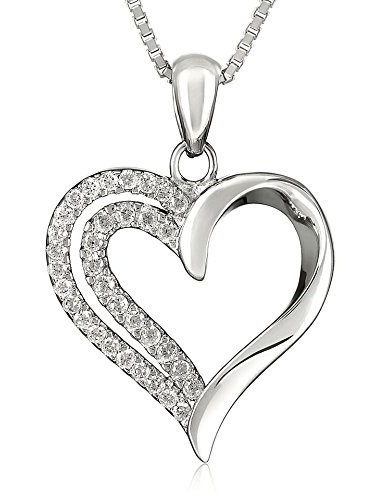 Bright And Elegant Jewelry Heart Shaped Necklace Solid
