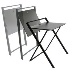 Folding Chair Desk Baby Wooden High Onespace Basics No Assembly With Dual Usb Charger Walmart Com