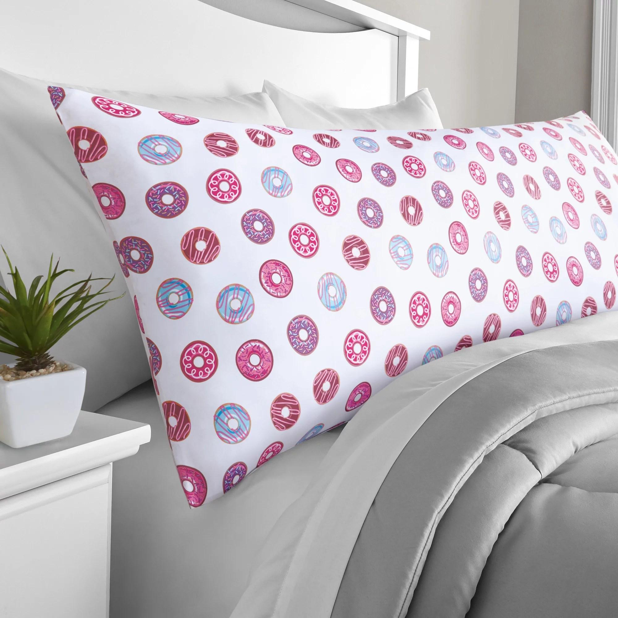 mainstays microfiber 20 x 52 donut body pillow cover 1 each