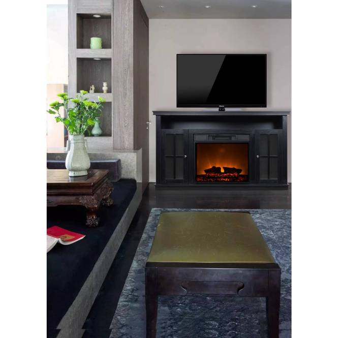 Indoor Wall Mounted Decor Flame Electric Fireplace Heater