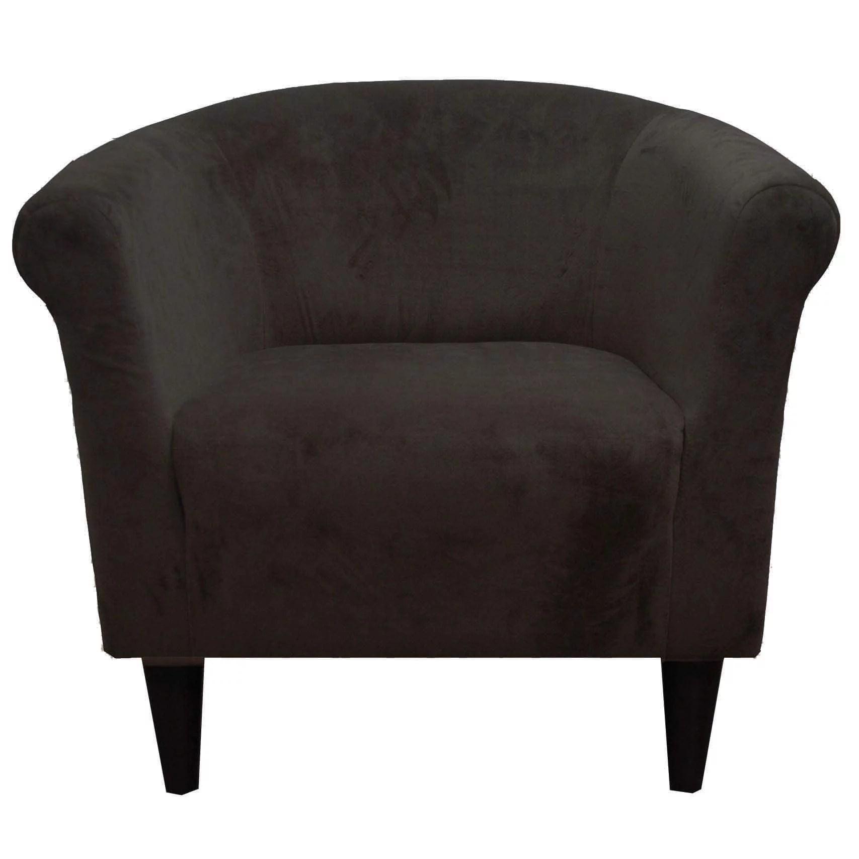 FHT Microfiber Accent Chair Chocolate  Walmartcom
