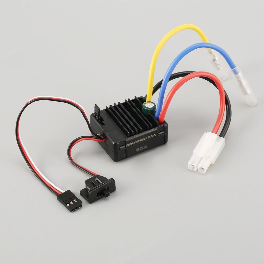 medium resolution of 540 27t brushed motor 60a esc with 5v 2a bec for 1 10 off road rc racing car