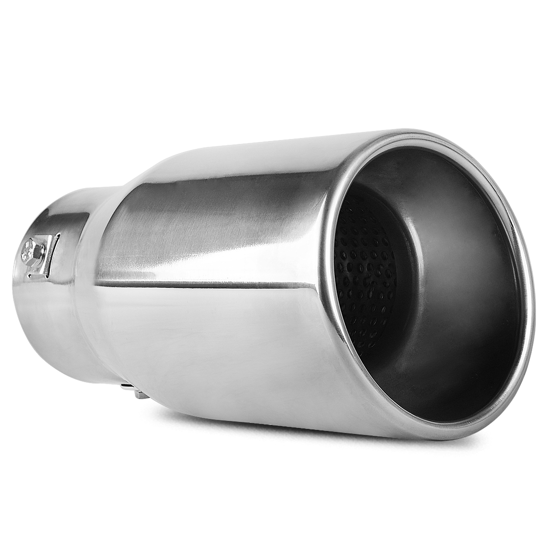 yitamotor chrome exhaust tip 3 in x 4 out x 9 l bolt on polished stainless steel tailpipe walmart com