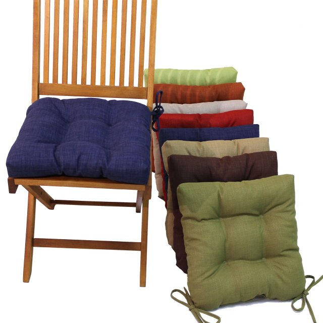 blazing needles 16 in. square outdoor chair cushions with ties - set