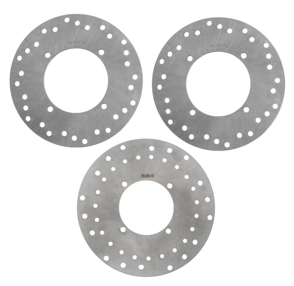 medium resolution of 2005 2006 polaris sportsman 500 4x4 ho front rear brake rotors discs walmart com