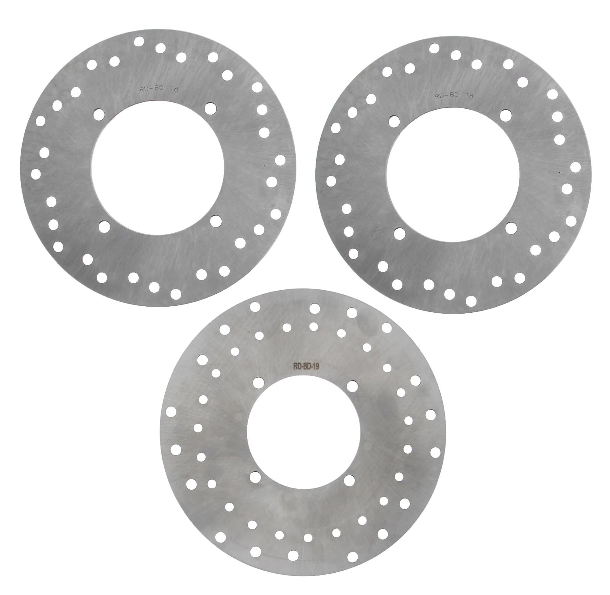 hight resolution of 2005 2006 polaris sportsman 500 4x4 ho front rear brake rotors discs walmart com