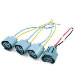 4pcs 9005 fog light lamp bulb socket wiring harness connector holder for car walmart com [ 1100 x 1100 Pixel ]