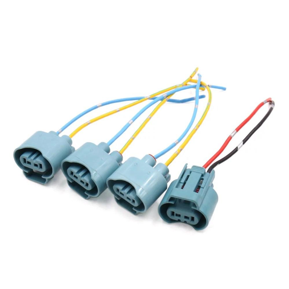 medium resolution of 4pcs 9005 fog light lamp bulb socket wiring harness connector holder for car walmart com