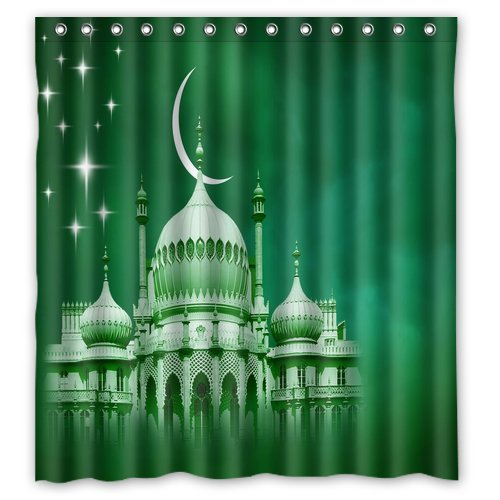 MOHome religious Shower Curtain Waterproof Polyester