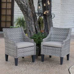 All Weather Wicker Outdoor Chairs T Cushion Chair Slipcover Belham Living Maven Dining Set Of 2 Walmart Com