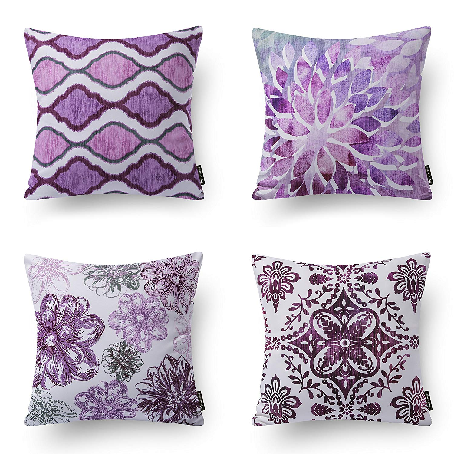 throw pillow covers purple