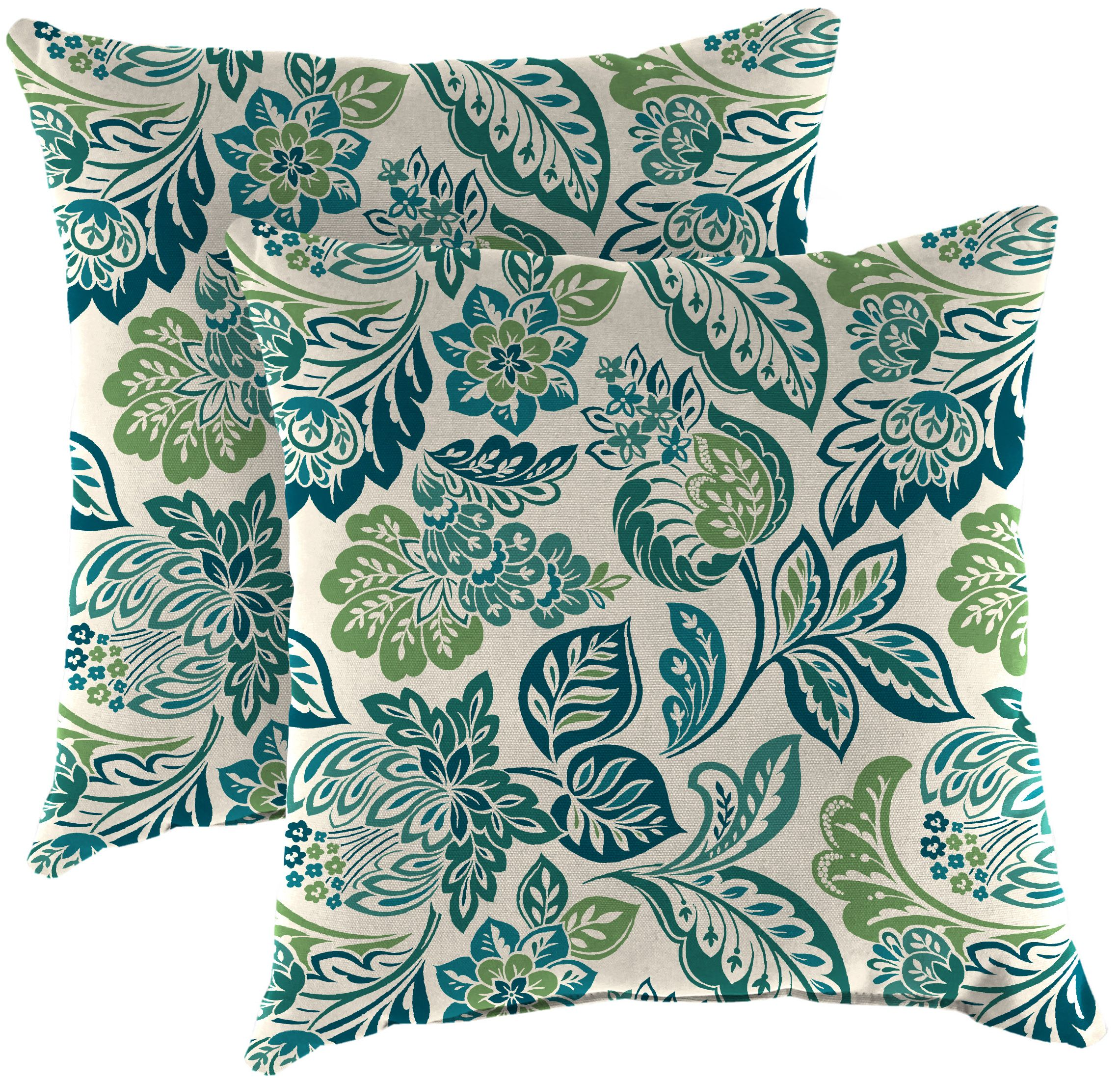 set of 2 outdoor 16 square toss pillows