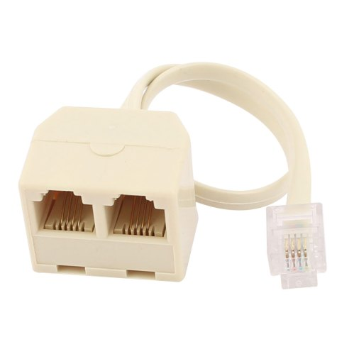 small resolution of  phone jack line splitter adapter beige zoomed image