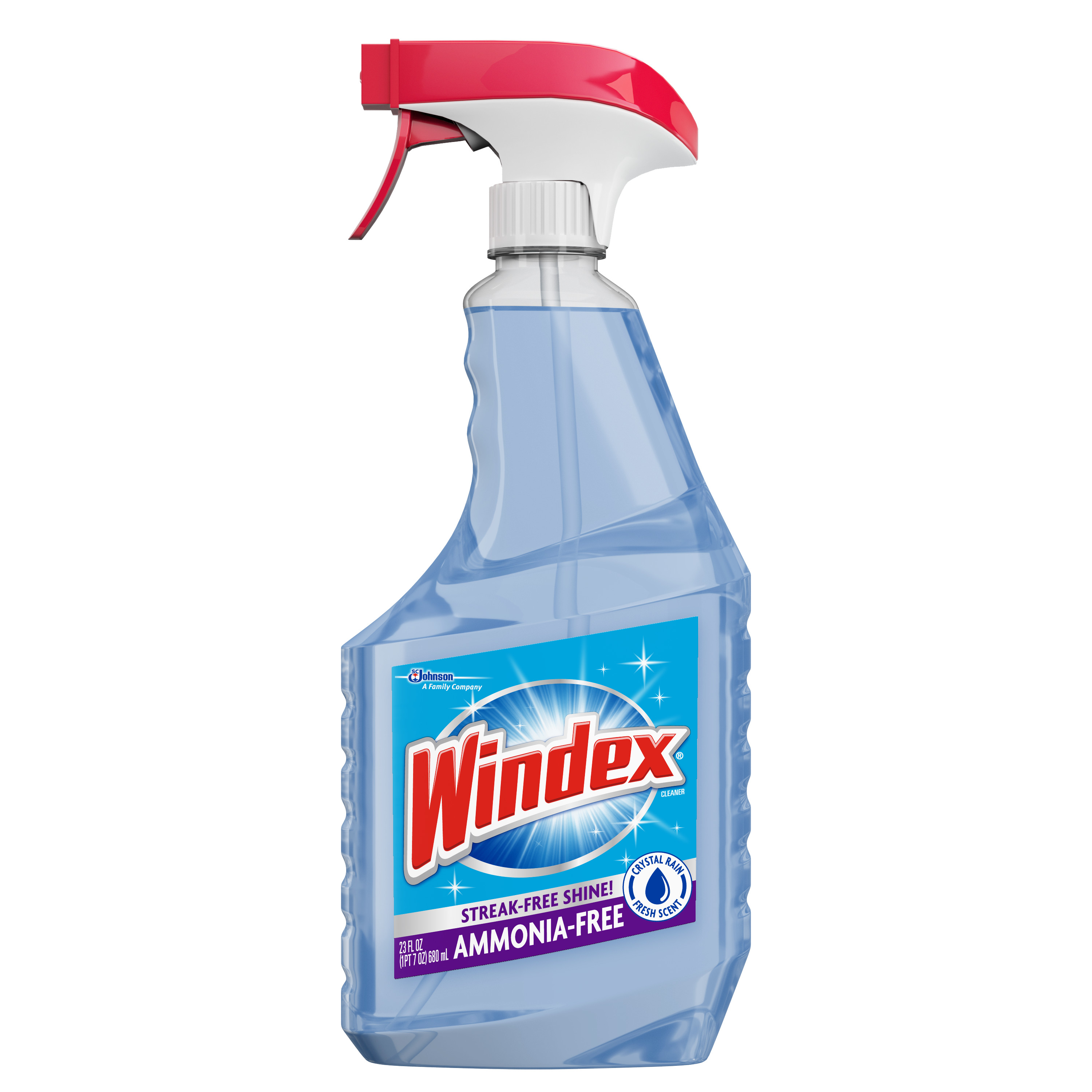 Windex AmmoniaFree Glass Cleaner Trigger Bottle Crystal