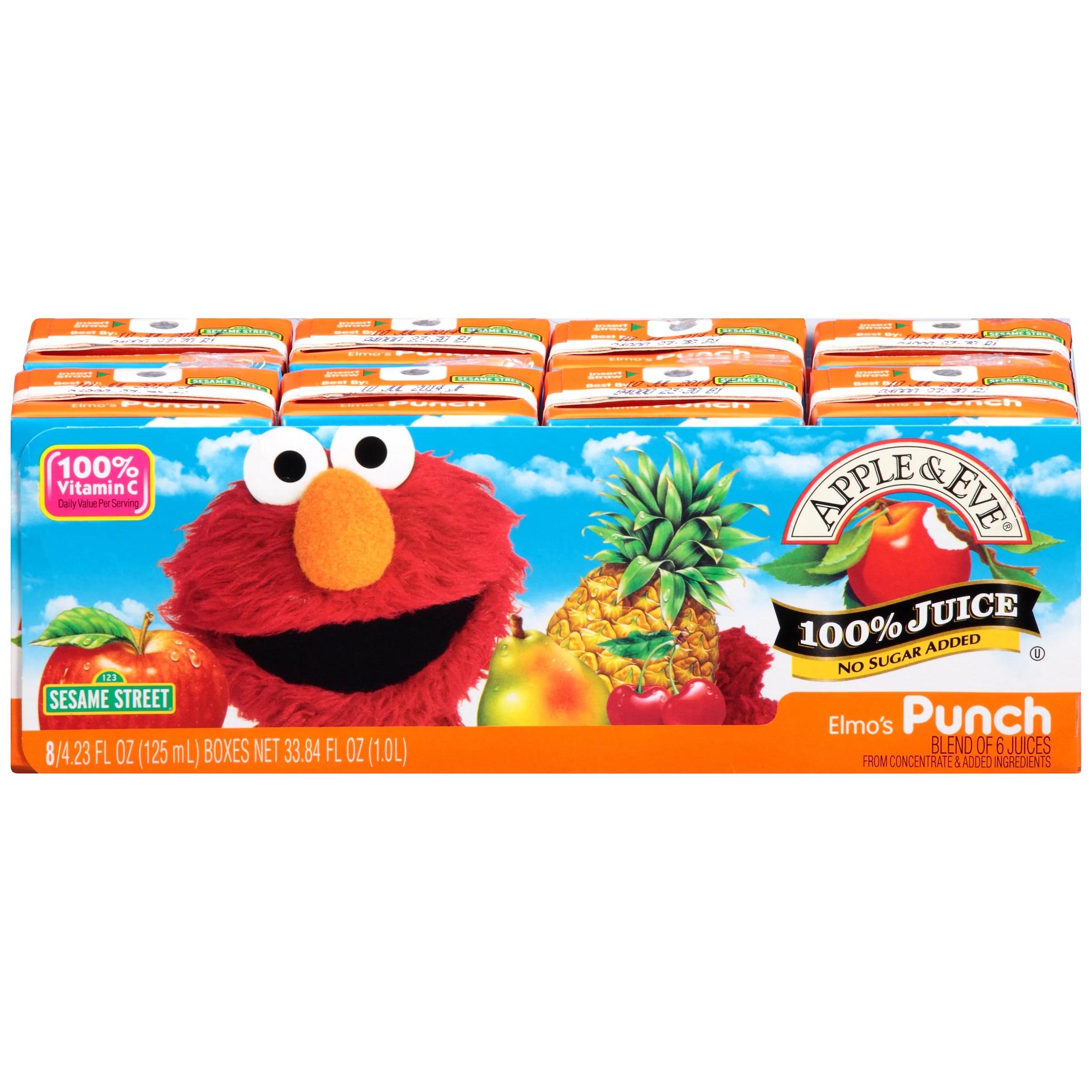 Apple Eve Sesame Street 100 Juice Elmo39s Punch 423