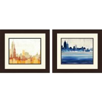 "Framed Graphic ""Building Blocks"" Wall Art, Set of 2 ..."